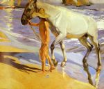 horse paintings - el bano del caballo [the horse s bath] by joaquin sorolla y bastida